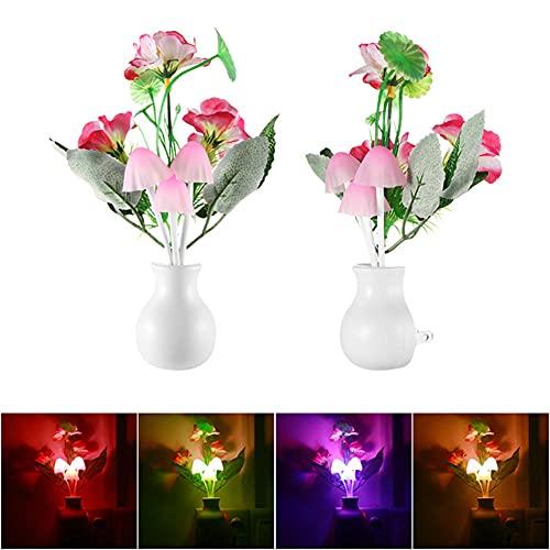 Lámpara en Forma de Hongo Luz Nocturna en Forma de Hongo Sensor de Luz de Enchufe de EE.UU.220 V Lámpara LED en Forma de Hongo Colorida Luces de Noche LED,Luces de Noche Para Bebés