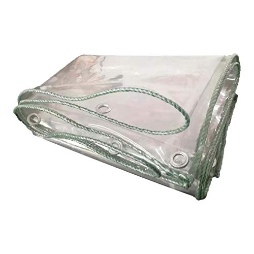HJRD Lona Alquitranada Cortina de Lluvia, Tela Impermeable Fines el Plastico Transparente al Aire Libre Tienda Abrigo Camping, Color : Clear(0.5mm2.8x6m(9.1x19.7ft))
