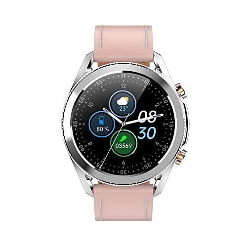 FMSBSC Reloj Inteligente Mujer Hombre Smartwatch Llamadas Bluetooth Deportivo Rastreador Actividad Reloj Inteligente Pantalla Táctil Completa IP67 Impermeable Compatible con Android iOS,Pink b