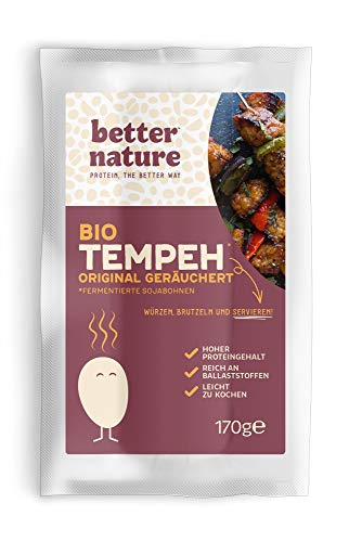 Better Nature - Bio-Tempeh Geräuchert 170g (5er-Pack) Vegane Fleischalternative