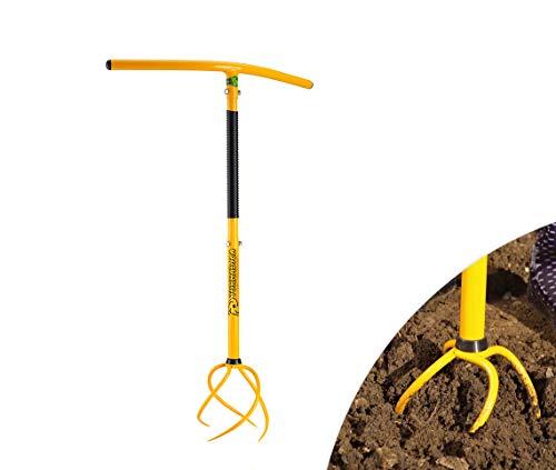 Mediashop Tornadica   Gartenkralle   3 Stufen – für unterschiedliche Körpergrößen geeignet   360 Grad Spiral-Kralle   Unkrautstecher   lockert den Boden   gräbt 20 cm tief   Das Original aus dem TV