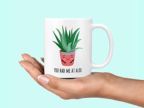 Je had me bij Aloë Aloë Its Me Koffiemok Aloë Vera Aloë Haar Me Plant Dame Mok Succulente Mok Hello Its Me Cactus Mok Cactussen Mok 11 OZ