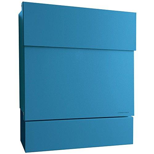 Radius Briefkasten Letterman 5 blau mit Zeitungsrolle 561n