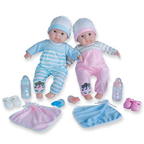 "Berenguer Boutique 30050 TWINS- 15"" Soft Body Baby Dolls - 12..."