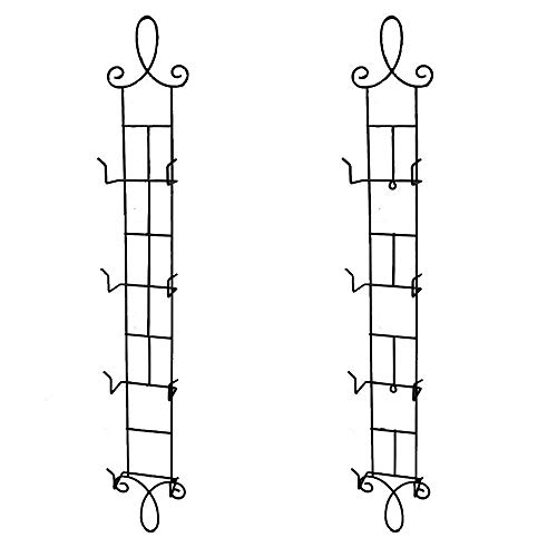HOHIYA Wall Plate Display Rack Vertical Easel Holder Stand Metal 4 Tier 42inch(Black, Pack of 2)