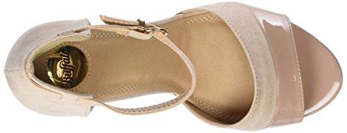 Buffalo Shoes IMI SUEDE PAT PU, Sandalen, Beige - 5