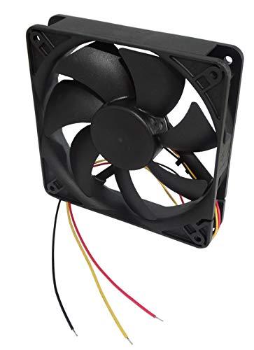 AERZETIX: Ventilador para Caja de Ordenador PC 24V 120x120x25mm 127,5m3/h 34dBA 2200rpm 2W 0.084A con Bolas 3 Cables 24AWG C14559