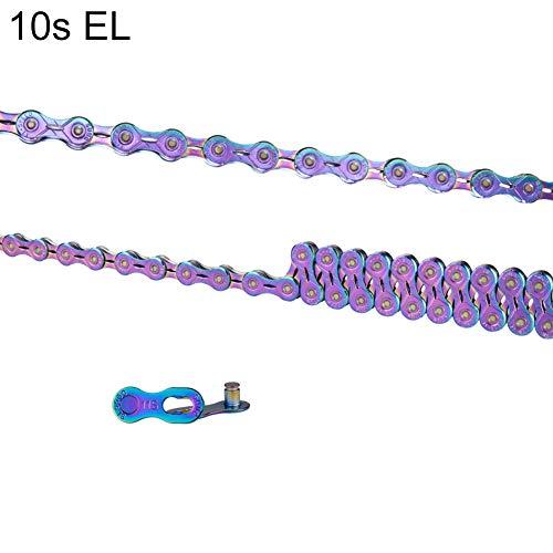 Cadena de bicicleta Uticon, 9/10/11/12 velocidades, para bicicleta de montaña, bicicleta de carretera, colorida, ultraligera, cadena de metal – mitad hueca, 10 velocidades*