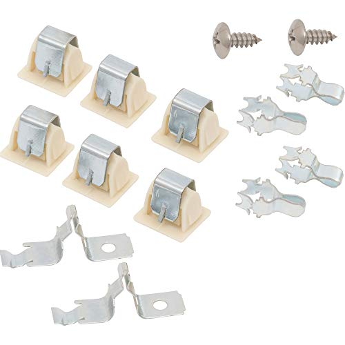 Ultra Durable 279570 Dryer Door Latch Strike Kit Replacement Part by Blue Stars - Exact Fit for Whirlpool Kenmore Maytag Dryers - Replaces 236877 420198 423232 279337 3392538 - PACK OF 2