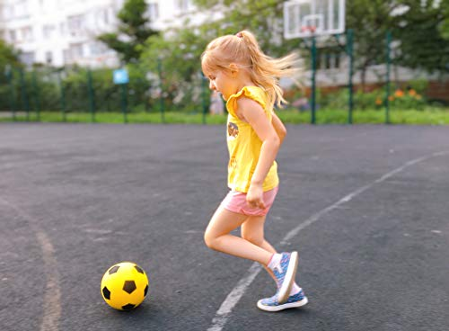 E-Deals Size 4 Soft Foam Sponge Indoor Outdoor Football Soccer Ball Choose Your Colour (Yellow)