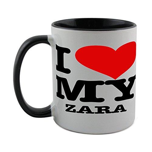 Taza Fotomax con abrigo negro en el interior de I LOVE MY...