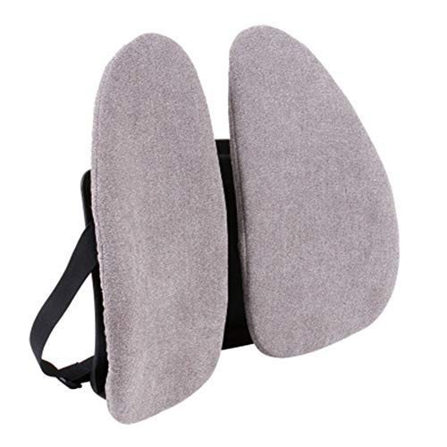 Nekkussen Kussen Cervical Kussen Taille Back Pillow Bank Flanel Cover taille Pad Ergonomisch ontwerp Double Taille Kussen,Gray,40 * 40cm