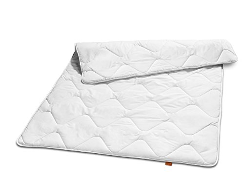sleepling 190039 Basic 140 Winter Bettdecke Mikrofaser Duo warm 135 x 200 cm, weiß