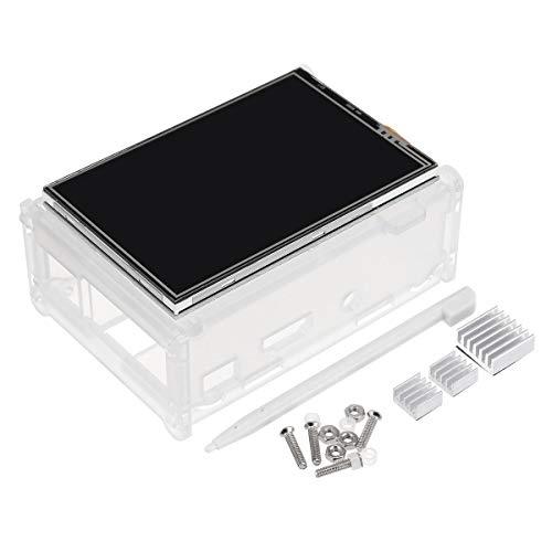 RLJJCS1163 Pantalla táctil LCD TFT LCD de 3.5 Pulgadas + Funda Protectora + Kit de bolígrafo del disipador térmico + for RPI 3/2/3 Ejemplar B / 3 Ejemplar B