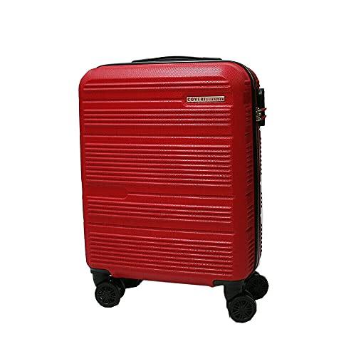 COVERI COLLECTION Trolley rigido utilizzabile come bagaglio a mano, approvato dalla maggior parte delle compagnie aeree low cost, 55 cm, Red/Rosso
