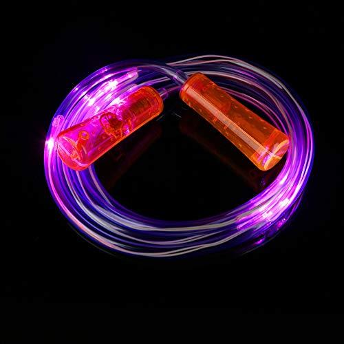 Dragonaur Springseil mit LED-Beleuchtung, leuchtet im Dunkeln, für drinnen und draußen, für Kinder und Erwachsene, Orange
