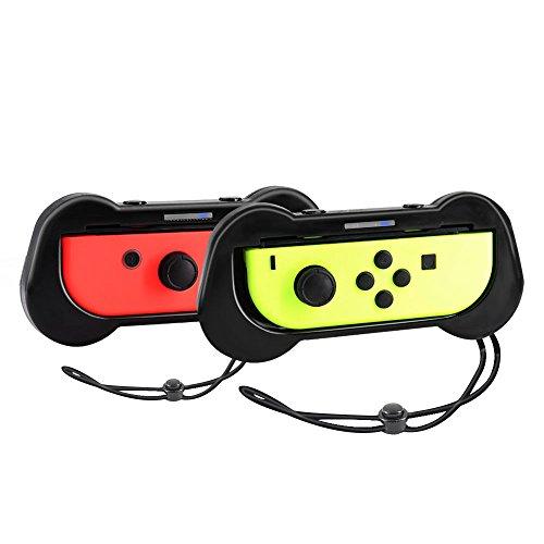 Yocktec Joy Con Grip für Nintendo Switch, Joy Con Comfort Grip Griff Schutzhülle für Nintendo Switch (Schwarz)
