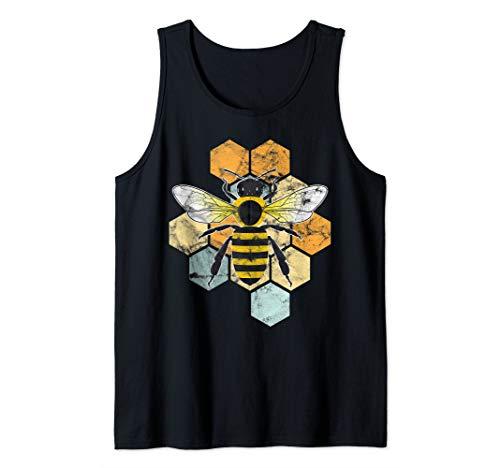 Biene Imker Vintage Geschenk Bee Honig Honey Retro Tank Top