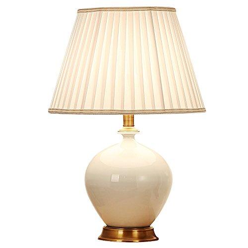 HZS Lámpara de Sala de Estar de Estilo Europeo Mesa de Mesa de cerámica de país Americano Lámpara de Mesa de Cobre de Dormitorio de cabecera de Dormitorio Moderno