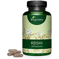 Reishi Vegavero® 2000 mg | El Único con 20% Polisacáridos & 6% Betaglucanos | 120 Cápsulas | Estrés y Ansiedad + Energizante + Antioxidante | Sin Celulosa Microcristalina | Adaptógenos