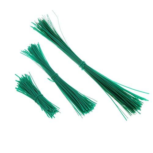ZZALLL 100 Piezas de Alambre de torsión Recubierto de jardín, Soporte de Planta, Cables de Correa de plástico, 10 CM