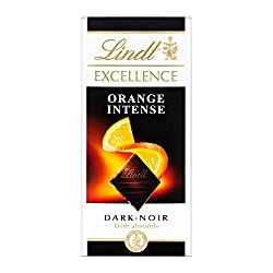 Lindt Excellence Dark Orange Chocolate, luxury dark chocolate bar with tender pieces of orange and slivers of almond Experience a treat for the senses with exceptionally rich yet thin chocolate bar Lindt Master Chocolatiers have crafted the finest ch...