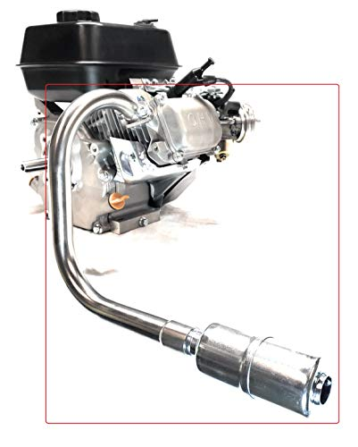 ARSPORT Exhaust with Muffler for: Predator 212cc,Honda GX160, GX200, DuroMax 7 Hp.