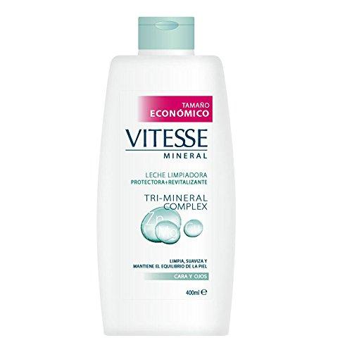 Vitesse Mineral - Leche limpiadora para cara y ojos - Tri-Mineral Complex - 400 ml