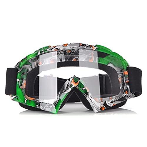 WDEEFR Bonito Gafas de Motocross Gafas de Sol de Casco Motocross Gafas Deportivas (Color : Green)