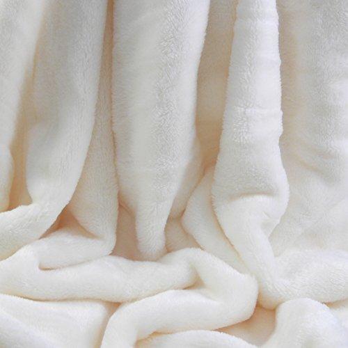 Berkshire VelvetLoft Polyester Blankets, Ivory Twin