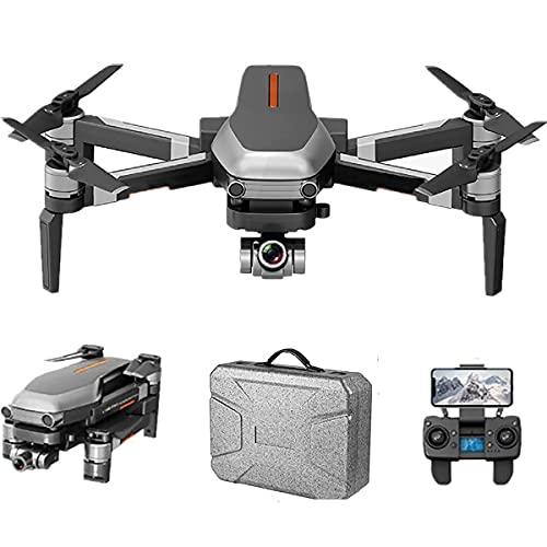 Drone quadricottero con videocamera video in tempo reale, quadricottero WiFi con 120 gradi;Fotocamera FOV 1080p HD Drone pieghevole RTF -25 minuti di volo, mantenimento dell'altitudine, decollo / at
