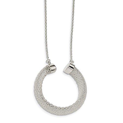 Collar de malla de plata de ley 925 regalos de joyería para mujeres - 43 centímetros