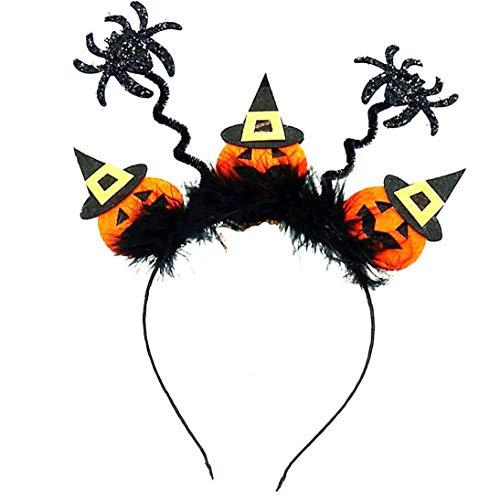 Nicetruc Cerchietti per Capelli Delle Donne Unisex di Halloween del cerchio Spider Forma Halloween Fascia di Cosplay del Partito Creativo Della sfera del copricapo Devil Fascia per Halloween 02 Tipo