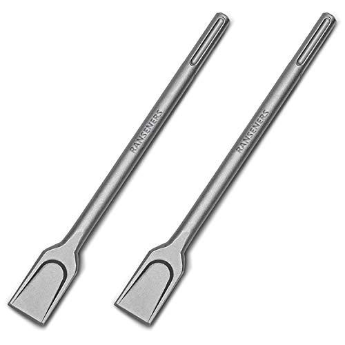 RANSENERS SDS-Max - Scalpello Per Piastrelle, Set Da 2, 35 Cm, Universale, In Acciaio Super Temprato, Lunga Durata