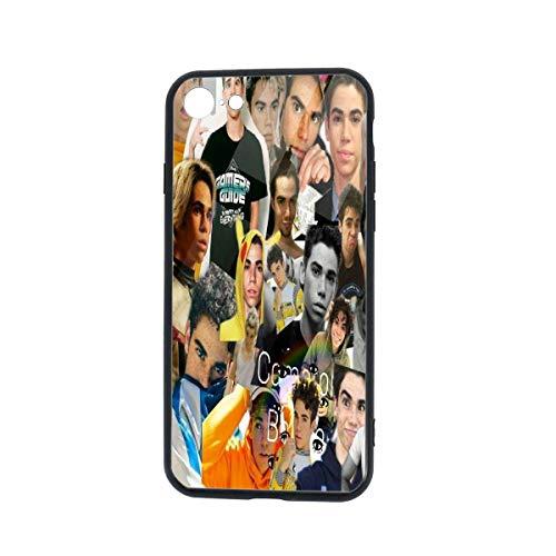 Carcasa para iPhone 7, Carcasa para iPhone 8, Carcasas con Marco de protección de Vidrio de TPU para iPhone 7/8 4.7'(Cameron Boyce)