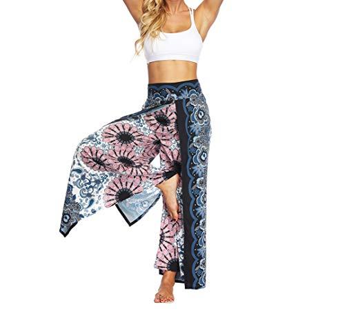 Mujeres Yoga Pantalones Pierna Ancha - Corriendo Sports Gym Secado Rápido Transpirable Suelto Casual Sudaderas(Estilo B S/M)