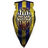 Hel-Las Verona Fc Logo Dorado Cálido Cuello Bufanda Turbante Headgear Cara Toalla Cuello Protección a prueba de viento a prueba de polvo Pasamontañas