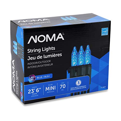 NOMA Premium Mini LED Christmas Lights | 70 Blue String Lights | Indoor & Outdoor| 23.6-Foot Strand