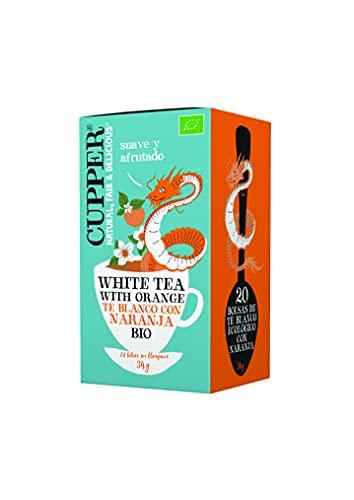 Cupper Té Blanco Con Naranja Bio, 20 Bolsas 34 ml