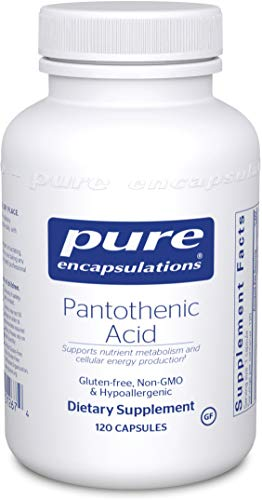 Pure Encapsulations - Pantothenic Acid - Hypoallergenic Supplement Supports Cellular Energy Production, Adrenal and Cardiovascular Health - 120 Capsules