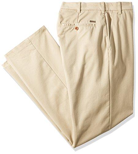 IZOD Pantalones chinos grandes y altos de rendimiento con parte delantera plana...
