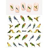 Nagel-Kunst-Beauty-Wasser-Abziehbild SCHWEBER Nail Sticker Vogel Parrot Popinjay Woodpecker Eagle Swallow Pheasant SWAN RP037-042