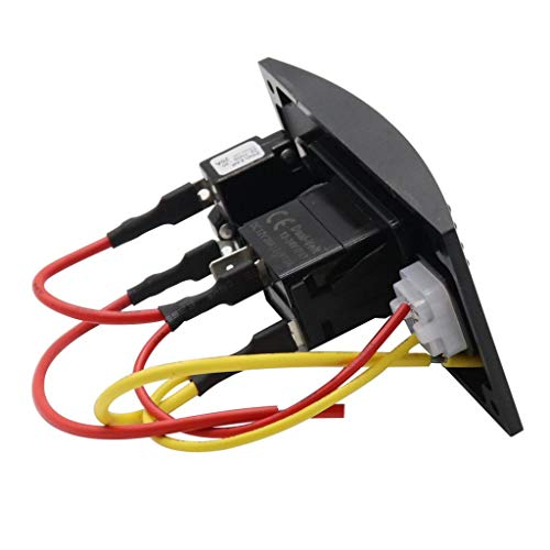 B Blesiya Panel de Interruptores de Barco Interruptor de Bomba de Lavado de Cubierta Curvo Impermeable Encendido Y Apagado único