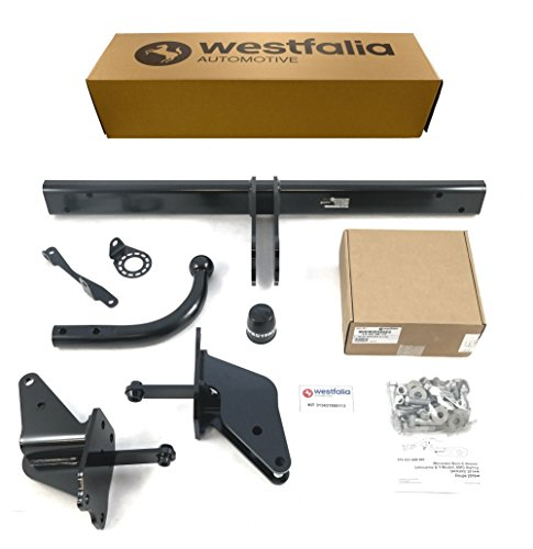Westfalia Starre Anhängerkupplung für Mercedes C-Klasse Kombi/Limousine (S205/W205) (BJ 03/14-06/18), C-Klasse Coupe/Cabrio (C205/A205) (10/15-06/18) im Set mit 13-poligem fzg.-spez. Elektrosatz