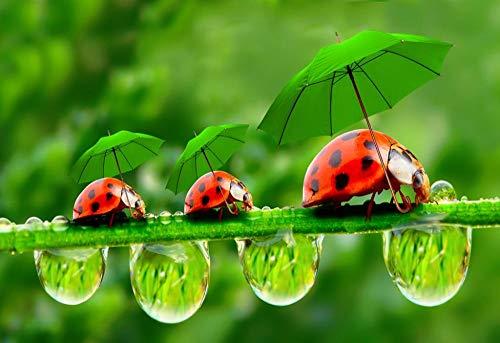 Mini Rompecabezas en Miniatura de 1000 Piezas para Adultos Ladybug Rompecabezas de cartón Resistentes, desafío de Ejercicio Cerebral, Juego de Alta dificultad, Regalo para niños 75 * 50cm