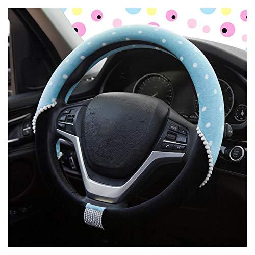 Cubierta de Volante 4 colores lindo caricatura carro volante cubierta de volante invierno peluche mujeres niñas regalo rueda rueda cubiertas de estilo de coches decoraciones Acondicionamiento interior
