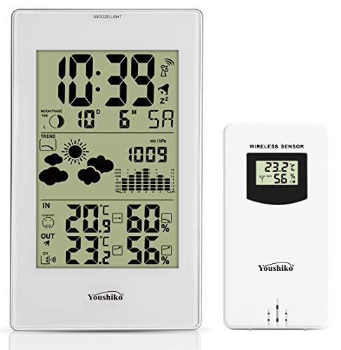 Youshiko YC9331 Wireless Weather Station, (Official UK Version) Radio...