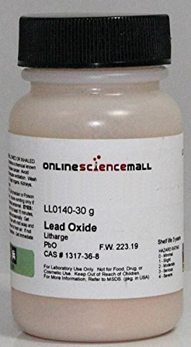 Lead Oxide, Litharge - Lab Grade Laboratory Reagent, 30g