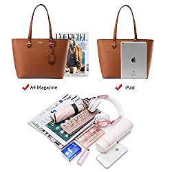 Handbags for Women Shoulder Bags Tote Satchel Hobo 3pcs Purse Set Brown