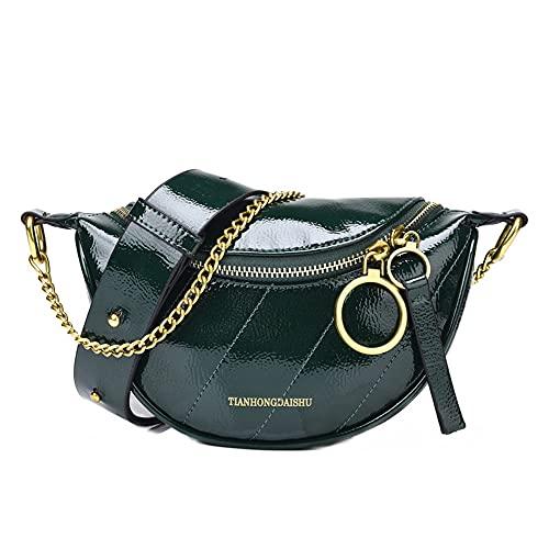 TIANHONGDAISHU Crossbody bolsa para mujeres señoras bolsas de hombro impermeable aceite cera cuero teléfono bolsas casual moda Messenger Bolsas